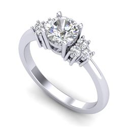 1 CTW VS/SI Diamond Solitaire Ring 18K White Gold - REF-227M3F - 36935