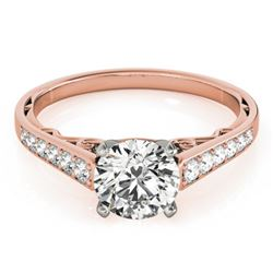 0.85 CTW Certified VS/SI Diamond Solitaire Ring 18K Rose Gold - REF-110N7A - 27511