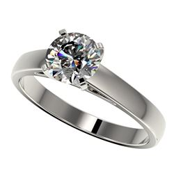 1.29 CTW Certified H-SI/I Quality Diamond Solitaire Engagement Ring 10K White Gold - REF-191X3R - 36