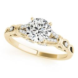 0.70 CTW Certified VS/SI Diamond Solitaire Ring 18K Yellow Gold - REF-114R9K - 27863