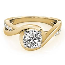 0.90 CTW Certified VS/SI Diamond Solitaire Ring 18K Yellow Gold - REF-206K7W - 27455