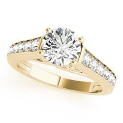 1 CTW Certified VS/SI Diamond Solitaire Ring 18K Yellow Gold - REF-132K7W - 27503