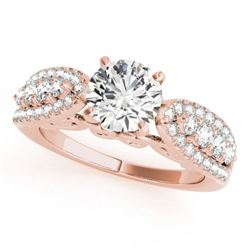 1.45 CTW Certified VS/SI Diamond Solitaire Ring 18K Rose Gold - REF-240K4W - 27871