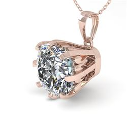1 CTW VS/SI Cushion Diamond Solitaire Necklace 18K Rose Gold - REF-297A2V - 35720