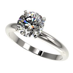 2 CTW Certified H-SI/I Quality Diamond Solitaire Engagement Ring 10K White Gold - REF-615M2F - 32932