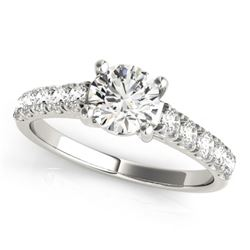 1.05 CTW Certified VS/SI Diamond Solitaire Ring 18K White Gold - REF-196X2R - 28128