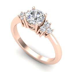 1 CTW VS/SI Diamond Ring Size 7 18K Rose Gold - REF-227V3Y - 36936