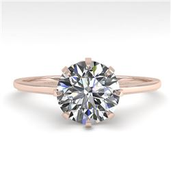 1.50 CTW Certified VS/SI Diamond Engagement Ring 18K Rose Gold - REF-567A2V - 35756