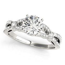 1.35 CTW Certified VS/SI Diamond Solitaire Ring 18K White Gold - REF-376X2R - 27840