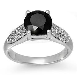 2.75 CTW VS Certified Black & White Diamond Ring 10K White Gold - REF-130H2M - 13496