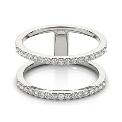 0.50 CTW Certified VS/SI Diamond Fashion Ring 18K White Gold - REF-65R3K - 28289