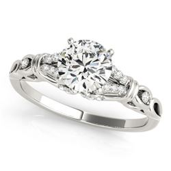 0.95 CTW Certified VS/SI Diamond Solitaire Ring 18K White Gold - REF-188K5W - 27864
