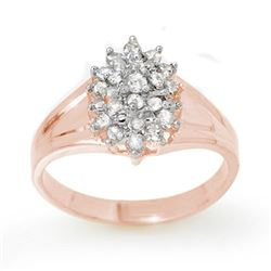 0.25 CTW Certified VS/SI Diamond Ring 18K Rose Gold - REF-41W3H - 13393