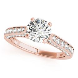 1.10 CTW Certified VS/SI Diamond Solitaire Ring 18K Rose Gold - REF-152X2R - 27520
