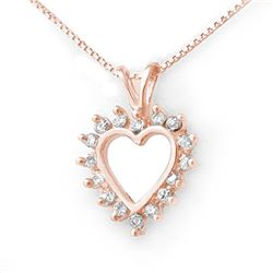 0.50 CTW Certified VS/SI Diamond Pendant 18K Rose Gold - REF-48W2H - 13312
