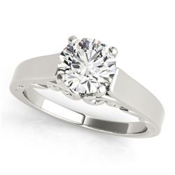 1.25 CTW Certified VS/SI Diamond Solitaire Ring 18K White Gold - REF-488M2F - 27786