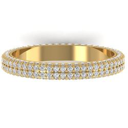 1.75 CTW Certified VS/SI Diamond Micro Eternity Ring 14K Yellow Gold - REF-130A9V - 30269
