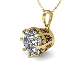 1 CTW VS/SI Diamond Solitaire Necklace 18K Yellow Gold - REF-280W2H - 35713