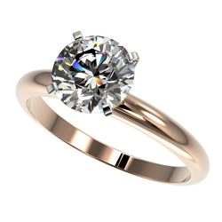 2 CTW Certified H-SI/I Quality Diamond Solitaire Engagement Ring 10K Rose Gold - REF-615V2Y - 32933