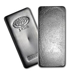 One piece 1 kilo 0.999 Fine Silver Bar Johnson Matthey-85203