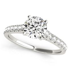 1.45 CTW Certified VS/SI Diamond Solitaire Ring 18K White Gold - REF-374A2V - 27591