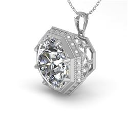 1.50 CTW VS/SI Diamond Solitaire Necklace 18K White Gold - REF-525F6N - 36009