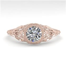0.50 CTW VS/SI Diamond Solitaire Engagement Ring 18K Rose Gold - REF-107W3H - 36017