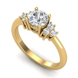 1 CTW VS/SI Diamond Solitaire Ring 18K Yellow Gold - REF-227R3K - 36937