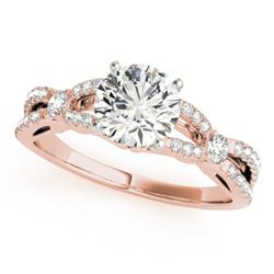 1.35 CTW Certified VS/SI Diamond Solitaire Ring 18K Rose Gold - REF-376K2W - 27841