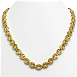 46.39 CTW Fancy Citrine & Diamond Necklace Yellow Gold 10K Yellow Gold - REF-553F6N - 40597
