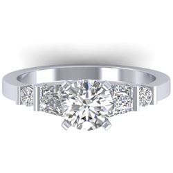 1.69 CTW Certified VS/SI Diamond Solitaire Ring 14K White Gold - REF-392M7F - 30393