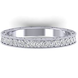 1 CTW Certified VS/SI Diamond Art Deco Eternity Band 14K White Gold - REF-78R2K - 30270