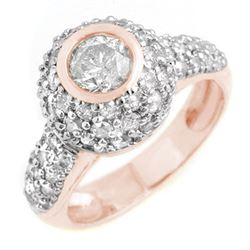 2.20 CTW Certified VS/SI Diamond Ring 18K Rose Gold - REF-195F3N - 13360