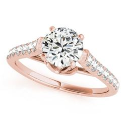1 CTW Certified VS/SI Diamond Solitaire Wedding Ring 18K Rose Gold - REF-128X5R - 27568