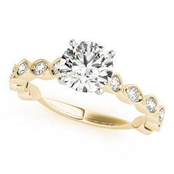 1.25 CTW Certified VS/SI Diamond Solitaire Ring 18K Yellow Gold - REF-206F7N - 27482