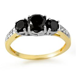 1.70 CTW VS Certified Black & White Diamond Ring 14K 2-Tone Gold - REF-52V2Y - 11798