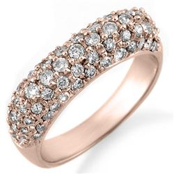 1.25 CTW Certified VS/SI Diamond Ring 14K Rose Gold - REF-105R5K - 10554