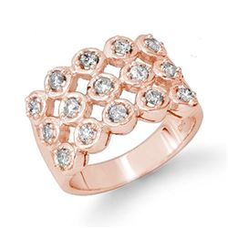 1.0 CTW Certified VS/SI Diamond Ring 14K Rose Gold - REF-99R3K - 14046