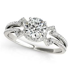 0.90 CTW Certified VS/SI Diamond Solitaire Ring 18K White Gold - REF-152H7M - 27966