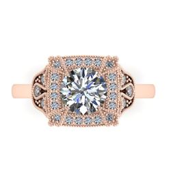 1.75 CTW Solitaire Certified VS/SI Diamond Ring 14K Rose Gold - REF-496V4Y - 38554