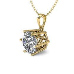 0.50 CTW Certified VS/SI Diamond Necklace 18K Yellow Gold - REF-84A9V - 35860