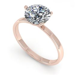 1.50 CTW Certified VS/SI Diamond Engagement Ring Martini 14K Rose Gold - REF-511V5Y - 38331