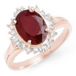 2.55 CTW Ruby & Diamond Ring 14K Rose Gold - REF-62K2W - 13120
