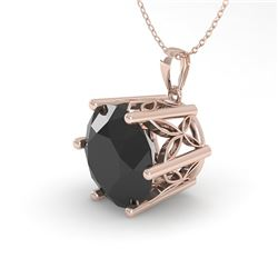 2 CTW Black Certified Diamond Solitaire Necklace 18K Rose Gold - REF-65N5A - 35876