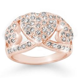 1.50 CTW Certified VS/SI Diamond Ring 14K Rose Gold - REF-128H9M - 14339