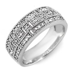 0.35 CTW Certified VS/SI Diamond Ring 14K White Gold - REF-56R2K - 10208
