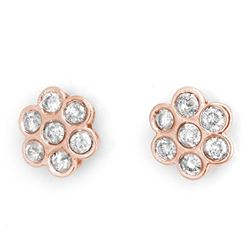 1.80 CTW Certified VS/SI Diamond Earrings 14K Rose Gold - REF-122K5W - 11276