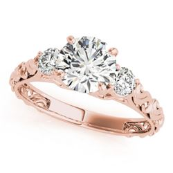 1 CTW Certified VS/SI Diamond 3 Stone Solitaire Ring 18K Rose Gold - REF-186M4F - 28042