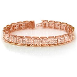 7.0 CTW Certified VS/SI Diamond Bracelet 14K Rose Gold - REF-420W7H - 14079