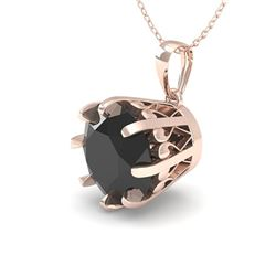 2.0 CTW Black VS/SI Diamond Solitaire Necklace 18K Rose Gold - REF-70W2H - 35735
